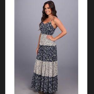 Lucky Brand Blue Floral Tiered Sundress Dress